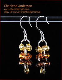 Brown Orbital Earrings